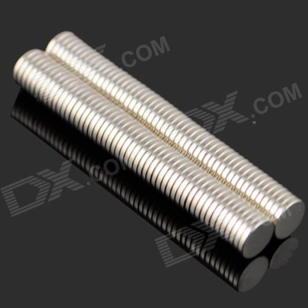 Brand: N/A; Model: N/A; Quantity: 100 piece(s) per pack; Color: Silver; Material: NdFeB; Specification: Magnetization direction: N S pole on both ends of the plane; Other Feature: Great for DIY projects such as ammeter, instrument, electric motor, automatic control, microwave device, radar and medical equipment; Packing List: 100 x Magnets; http://j.mp/1lkl3eF