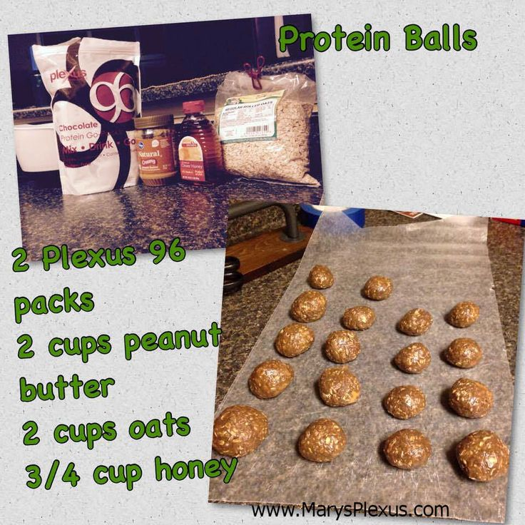 Healthy protein balls.  This is a good recipe and easy.  Simple ingredients.