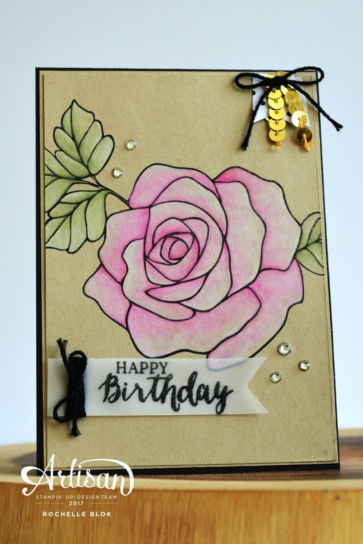479 Best Cards With Roses Images On Pinterest Flower Cards