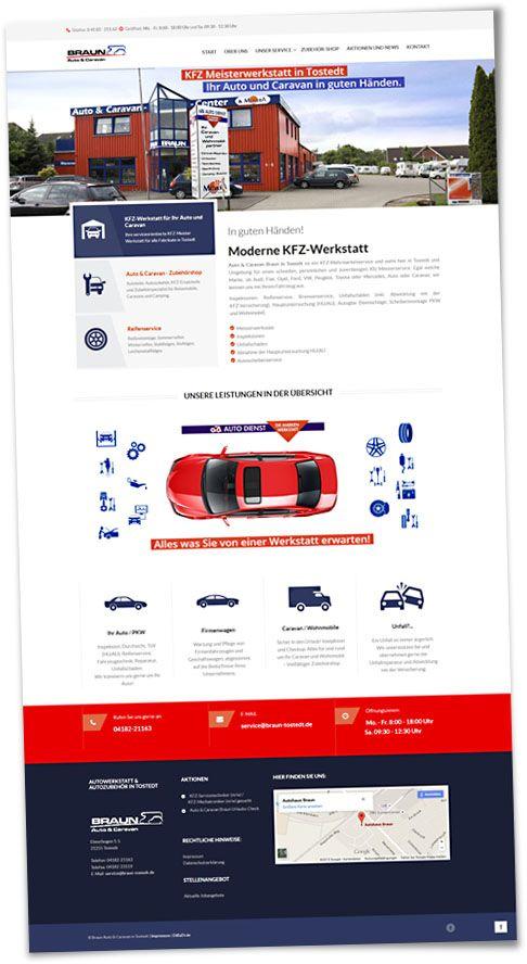 Internetseite für Braun Auto and Caravan
