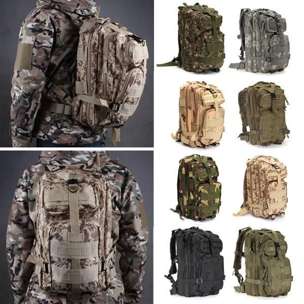 IPRee® 30L Outdoor Tactical Backpack 600D Nylon Camouflage Trekking Rucksack