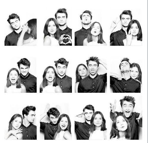 Daniel Radcliffe and Bonnie Wright. This is soooo cute! Harry and Ginny for life ♡