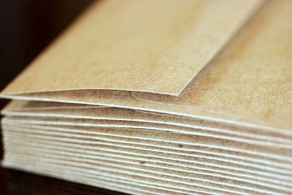 100 A6 Kraft Envelopes ecofriendly envelopes by GreenEarthSupplies, $27.50