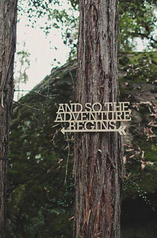 Woodland wedding sign. Love this idea.