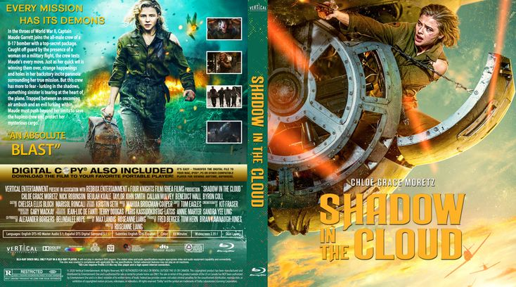 Shadow In The Cloud 2020 Blu Ray Custom Cover In 2021 Custom Cover Design Cover