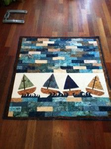Sail boat quilt from Missouri star quilt co -- I need to find some kids to make this for!