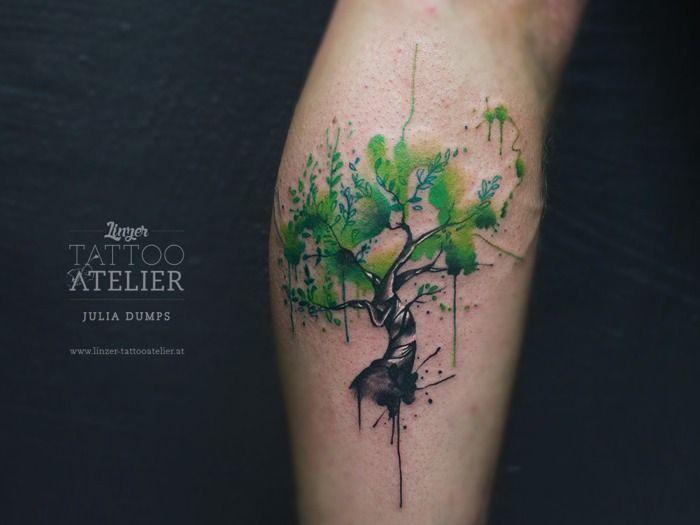 Resultado de imagen para trees watercolor tattoo