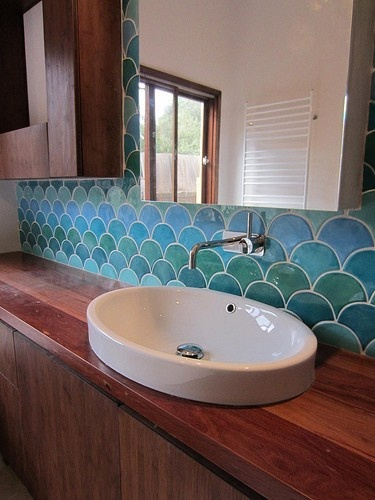 38 best images about home projects on pinterest diy for Fish scale backsplash