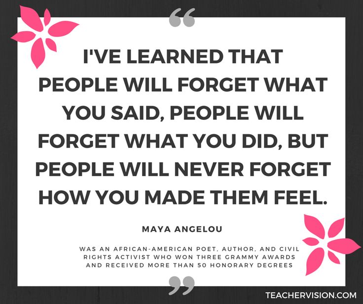 In honor of Maya Angelou's birthday, use this quote as a class discussion starter or writing prompt. #BlackHistory #Poetry #Writers https://www.teachervision.com/african-americans/biography/4570.html
