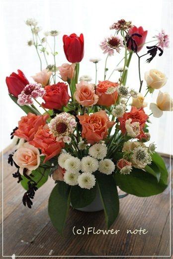 【今日の贈花】91歳のお誕生日のお祝花 Flower note の 花日記 (横浜・上大岡 アレンジメント教室)