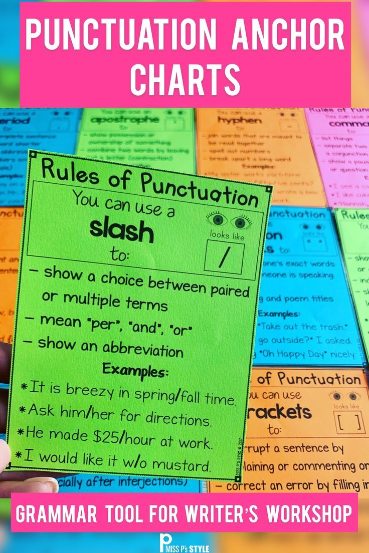 Teaching Punctuation To Elementary Students Does Not Have To Be Tricky These 15 Anchor Charts Are Punctuation Anchor Chart Teaching Punctuation Anchor Charts [ 1104 x 736 Pixel ]
