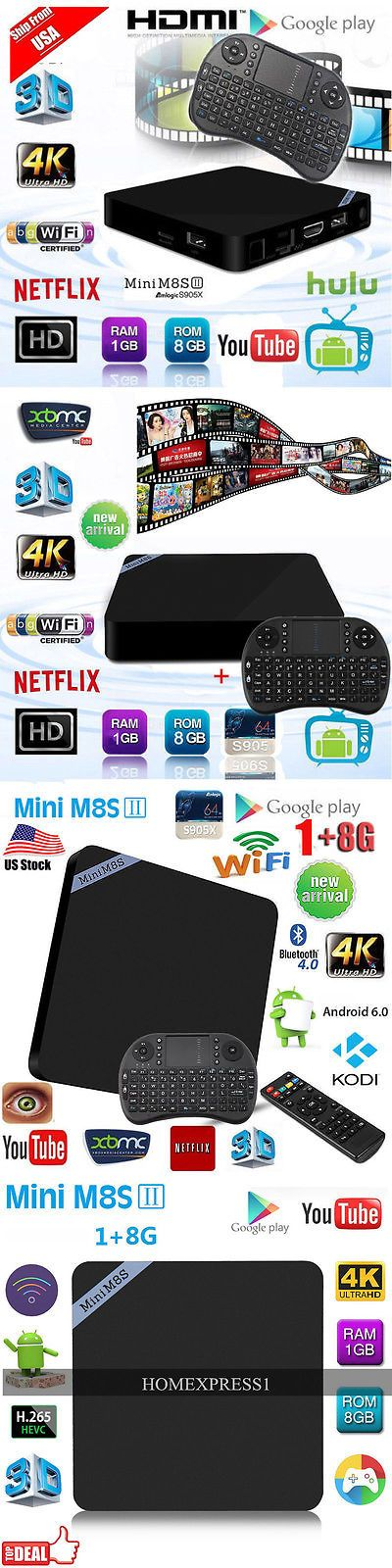 Cable TV Boxes: Mini Quad Core 1080P 4K Android Tv Box+Backlit Keyboard Black H -> BUY IT NOW ONLY: $44.95 on eBay!