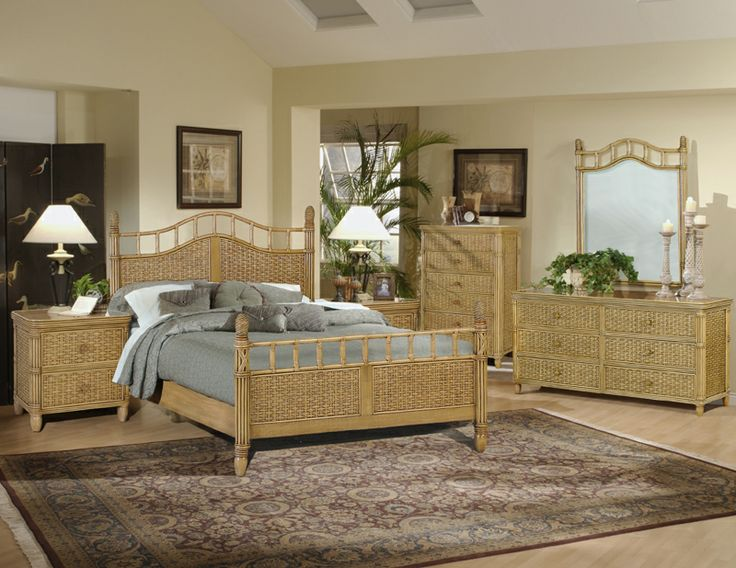19 best Tropical Rattan and Wicker Bedroom Furniture images on ...