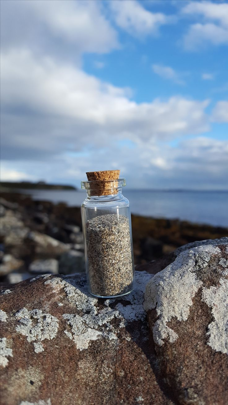 Beautiful Scottish beach sand in individually collected cork bottles now available at www.freshislandair.com :)