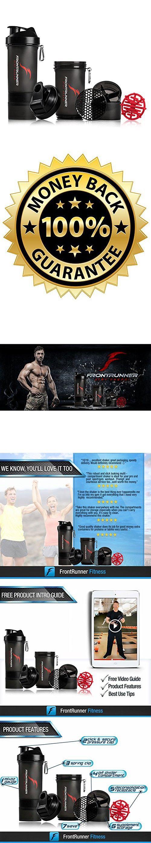 FrontRunner Fitness Premium Refuel Shaker - Protein Shaker - Water Bottle - 800mL (Black)