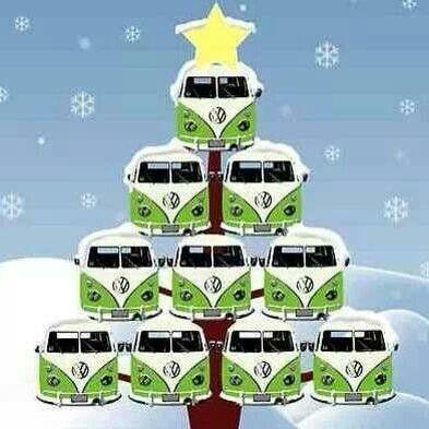 Kerst met VW #christmas #noel #combi #vw