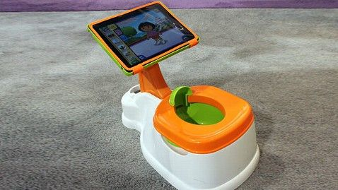 At CES in Las Vegas, CTA Digital has shown off a child's seat for potty training equipped with a stand for an iPad. $39.99