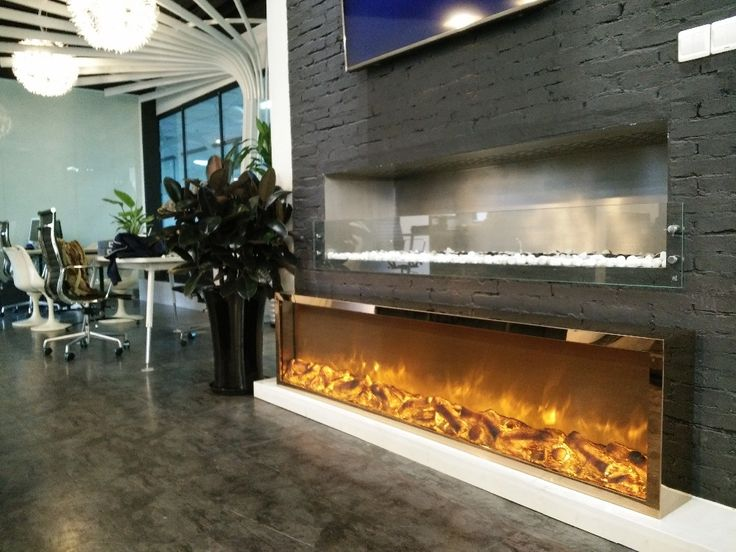 stunning modern electric fireplace with glass