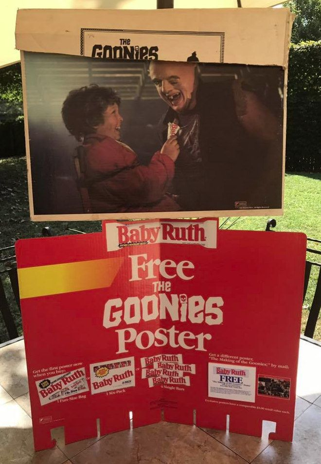 Vintage 1985 Baby Ruth Goonies Store Display Poster | Baby ...