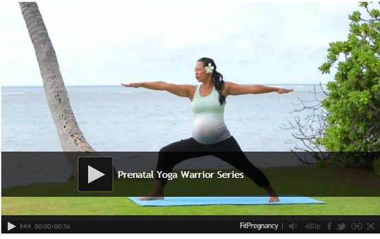 Prenatal Yoga Video - Warrior poses. #yoga #video #workouts #fitness