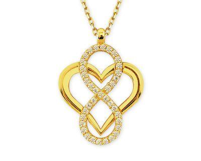 Altın Sonsuz Aşk Kolye