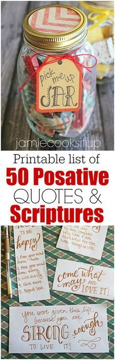 Printable list of 50 uplifting quotes and scriptures from Jamie Cooks It Up!