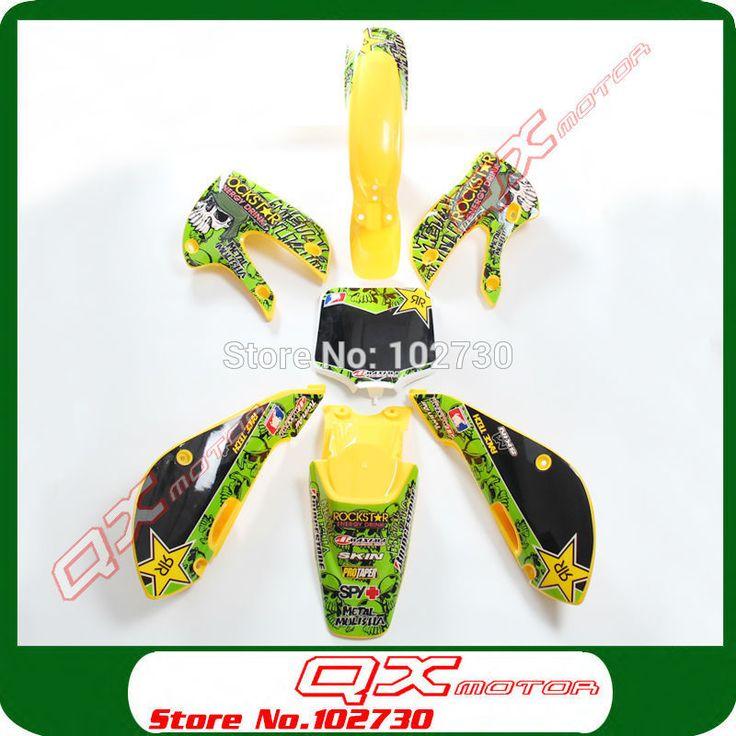 ==> [Free Shipping] Buy Best Kayo Apollo Bosuer Xmotos GPX SSR PITSTERPRO ORION ATOMIK Dirt Pit Bikes Plastic kit  3m graphics Sticker Kit KX65 KLX110 style Online with LOWEST Price | 32248871210