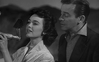 It Came from Outer Space (1953) Richard Carlson, Barbara Rush are the couple who see a spaceship crash in to the desert