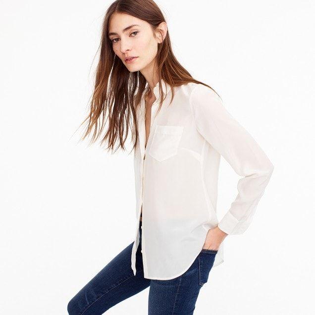 e33335e0044d women s silk button-up shirt - women s shirts