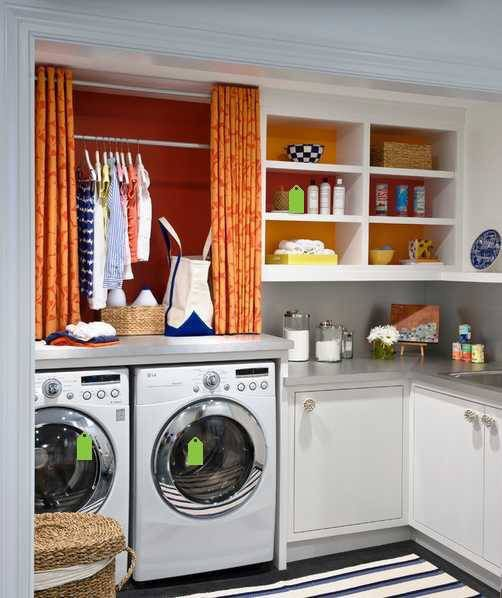 ehrfurchtiges 10 praktische ideen fur die einrichtung der kleinen waschkuche beste abbild und ffacfdeeaedcb laundry room curtains basement laundry rooms