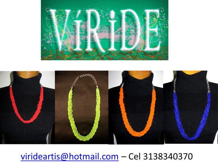 Collares elaborados en chaquiras, piedras naturales, madera!