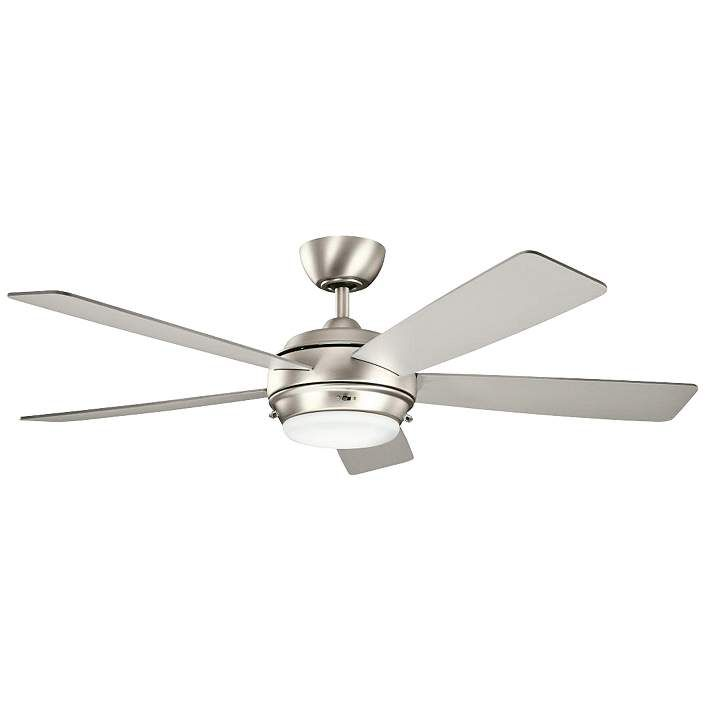 """52"""" Kichler Starkk Brushed Nickel Ceiling Fan"""