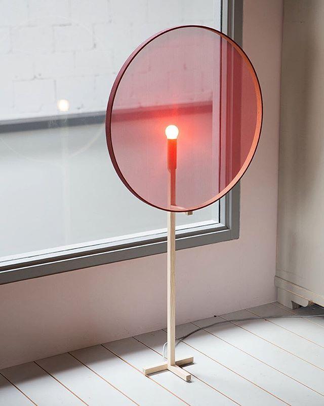 Resting Light #resting #light #restinglight #sptsbrg #spitsberg #standinglamp #lamp #red #fabric #streched #ash #woodencircle #translucent #transparent #light #lightweight #lightdesign #dutchdesign #photoby @debbietrouerbach