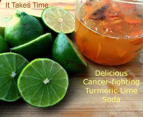Fermented Turmeric Lime Soda-made with Turmeric bug (similar to ginger bug)