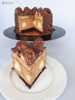 Tort ecler cu mousse caramel si glazura de ciocolata