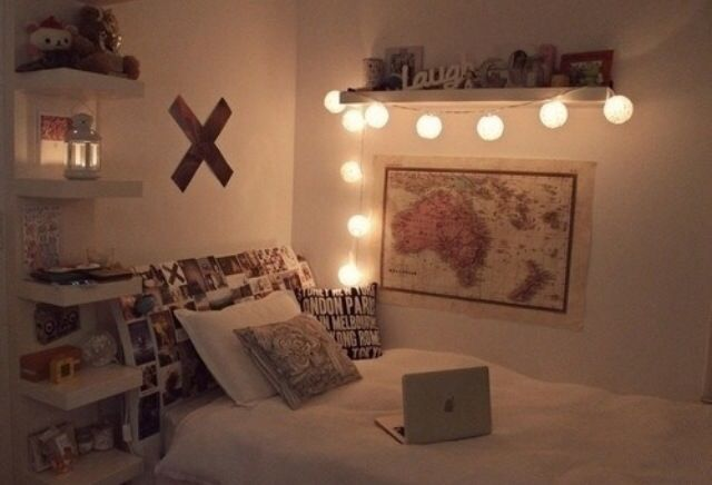 #hipster #bedroom | Tumblr bedrooms | Pinterest | Shelf ...