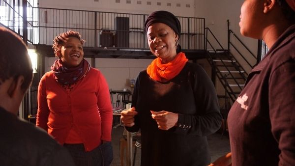 Thembi Mtshali Jones and Hlengiwe Lushaba Madlala   Gogo and big Sister workshop April 2014