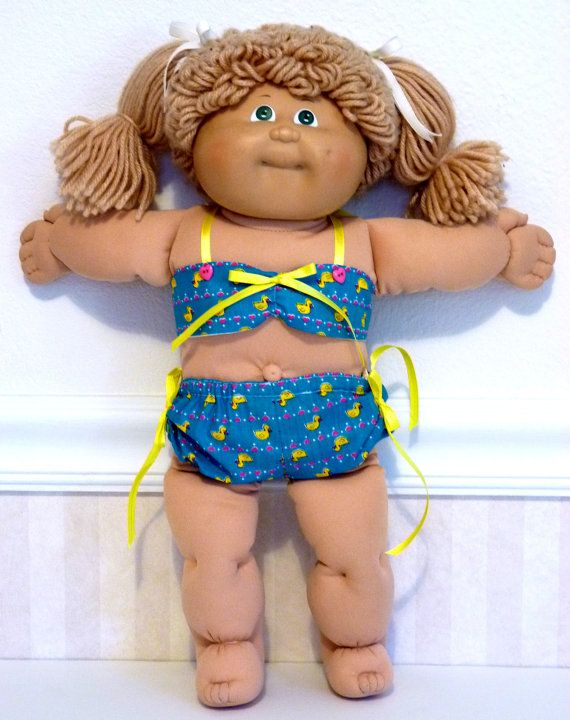 Itsy-Bitsy Ducky Bikini - Cabbage Patch Kids Handmade Doll Clothes