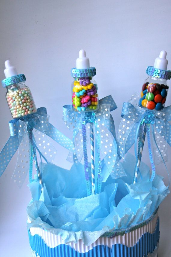 Baby Bottle Favors Picks or Sticks / Baby by FavorsBoutique, $32.00