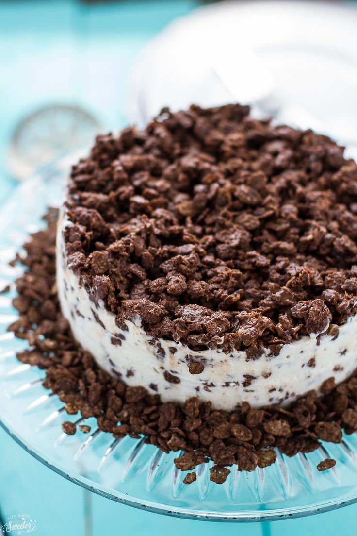 The easiest ice cream cake ever! Only 4 ingredients to make this Mocha Crunch Ice Cream Cake that is so decadent & totally life-changing.
