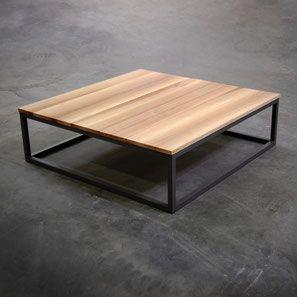 ARTMETA tubes table basse bois metal