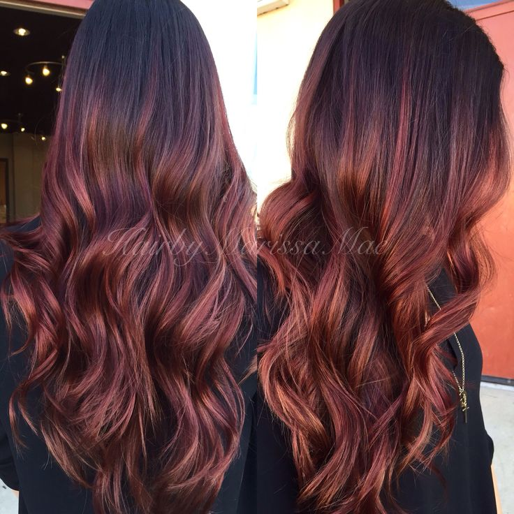 Burgundy Ombre Hair Color New Black Cherry Elegant I Pinimg