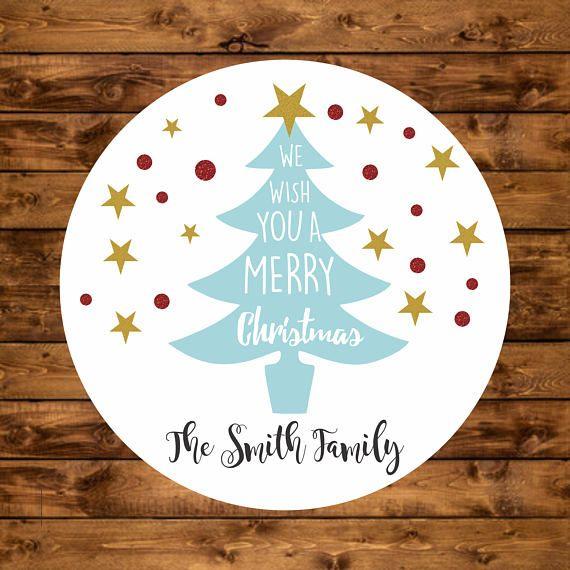 Christmas Gift Tags Personalized Christmas Tags Christmas ...