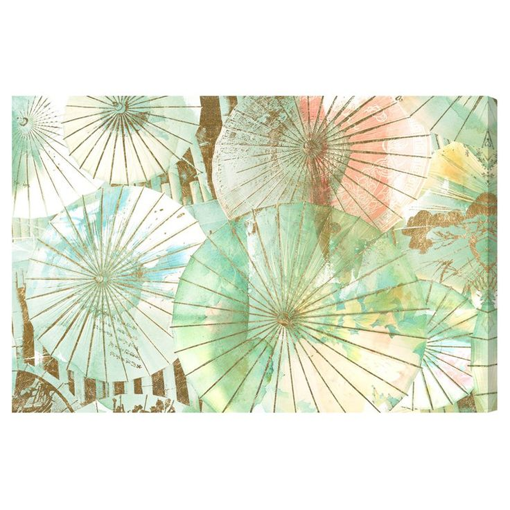 Oliver Gal Umbrella Shop Jade Canvas Art - 20526_72X48_CANV_XXHD