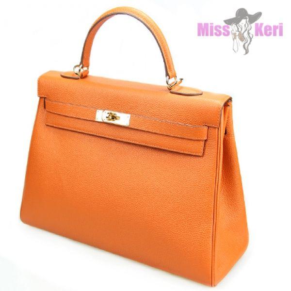 Сумка Hermes Kelly оранжевого цвета купить, цена, интернет-магазин, отзывы