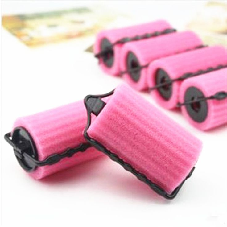8Pcs Diy Magic Soft Foam Hair Curlers Sponge Hair Rollers Curling Spiral Tool Set Salon Hair Style Hairdressing Accessories