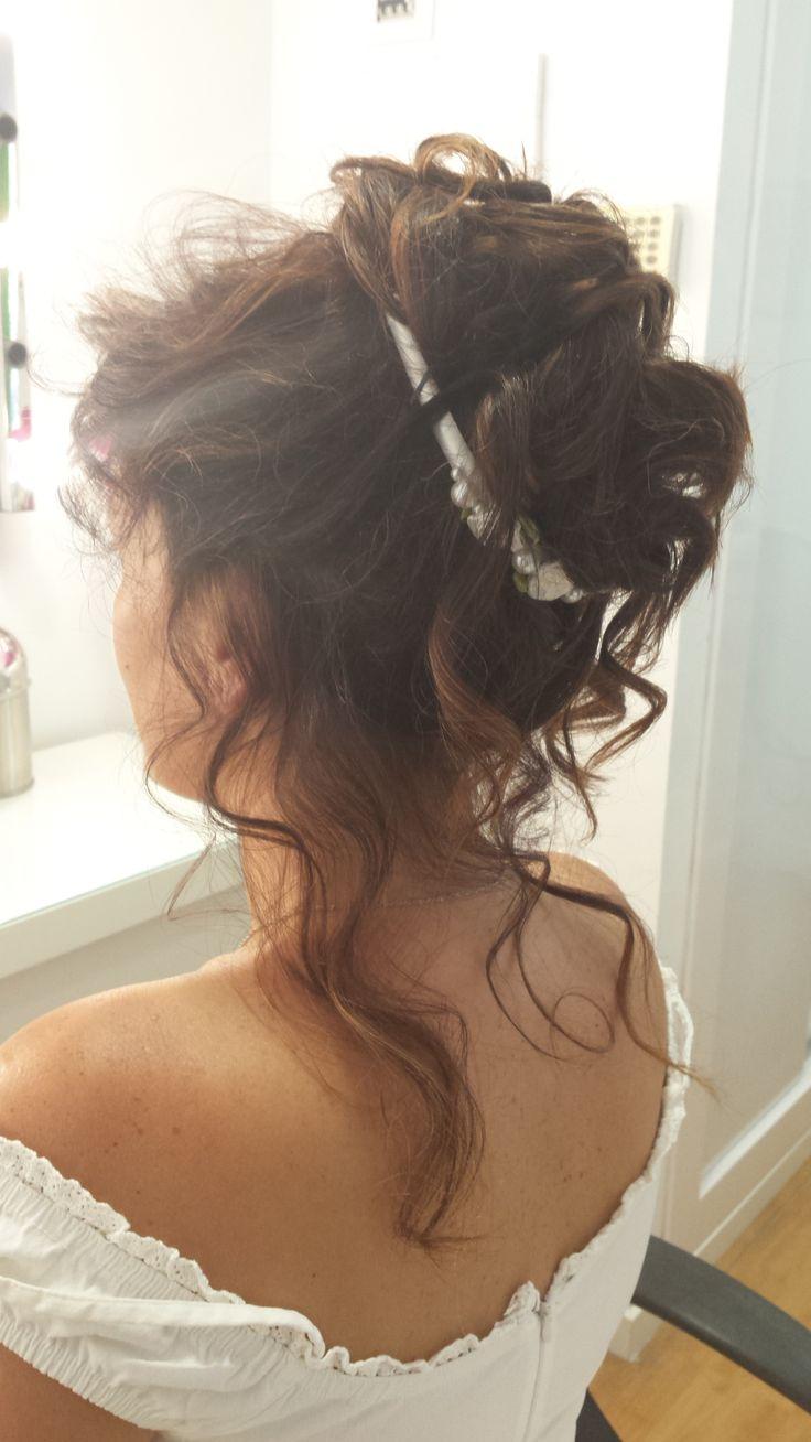 Recogido alto para boda salones gregorio porras peluqueria - Recogido para boda ...