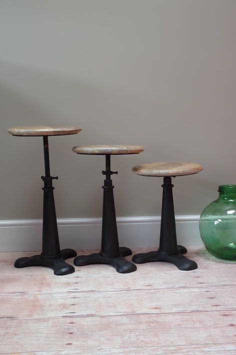 Functional factory stool. Use it and abuse it, but love it!