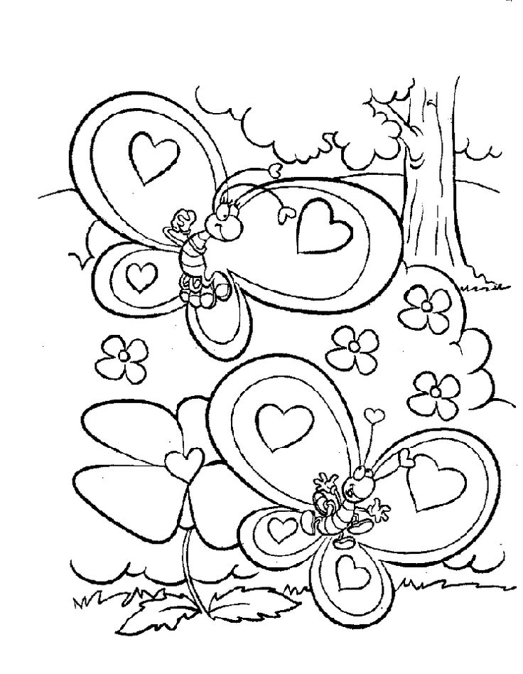 Spectacular Coloring Pages Of Valentines Day