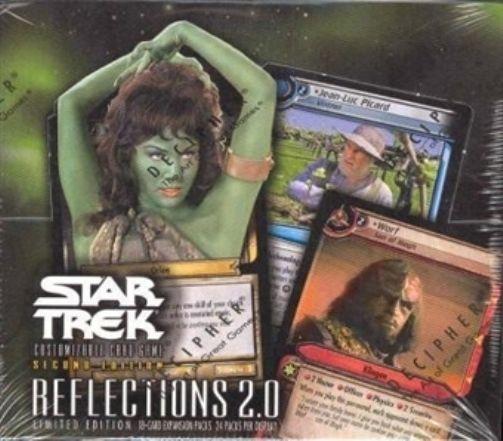 CCG Sealed Booster Packs 183456: Star Trek Ccg 2E Reflections 2.0 Sealed Box Of 24 Booster Packs Of 18 Cards -> BUY IT NOW ONLY: $797 on eBay!